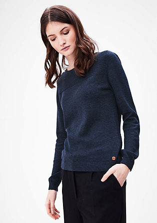 Jumper with a textured pattern from s.Oliver