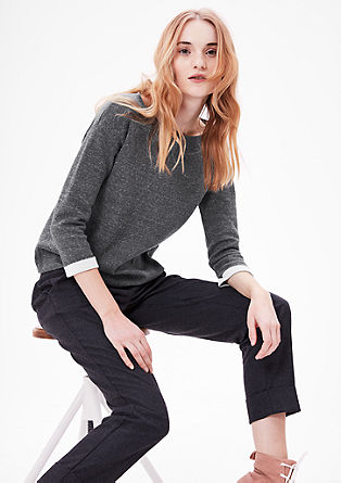 Jumper with contrast borders from s.Oliver