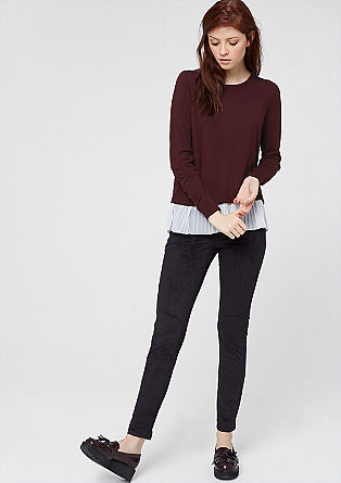 Jumper with pleated lining from s.Oliver