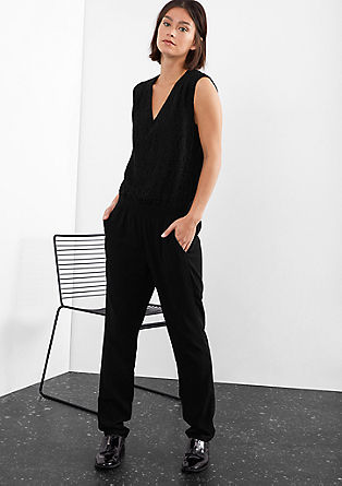 Jumpsuit in a 2-in-1 look from s.Oliver