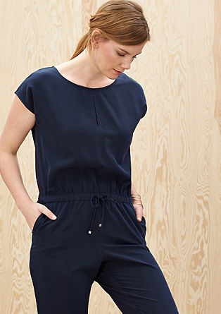 Jumpsuit in an elegant fabric mix from s.Oliver