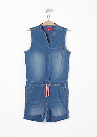 Jumpsuit in Denim-Optik