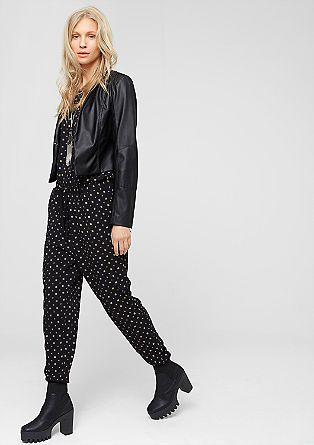 Jumpsuit with a minimalist print from s.Oliver