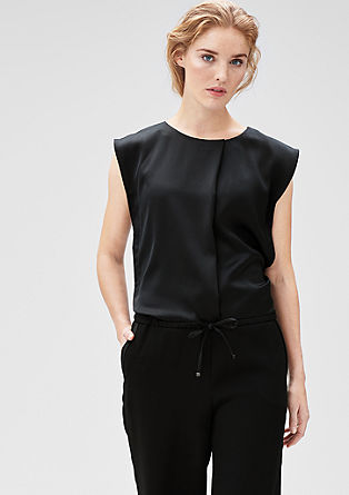 Jumpsuit with a wide leg from s.Oliver