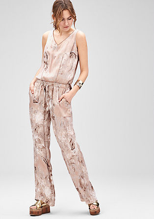 Jumpsuit with an all-over print from s.Oliver