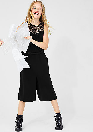 Jumpsuit with lace from s.Oliver