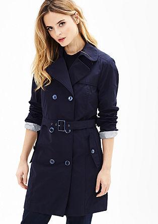 Kabát strenčkotovým vzhledem