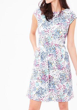 Kanten jurk met bloemenmotief