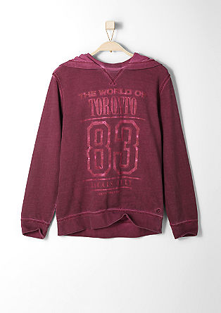 Kapuzen-Sweater mit Frontprint