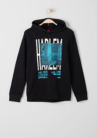 Kapuzensweatshirt mit Fotoprint