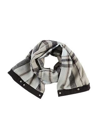 Karierter Schal mit Loop-Funktion