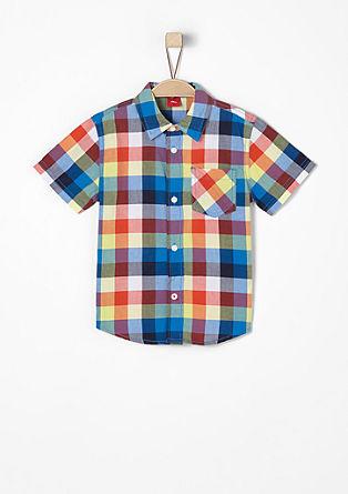 Kariertes Kurzarm-Hemd