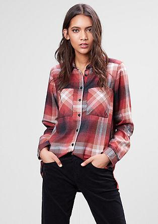 Karirasta bluza v videzu flanele
