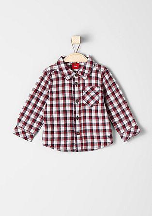 karirasta bombažna srajca