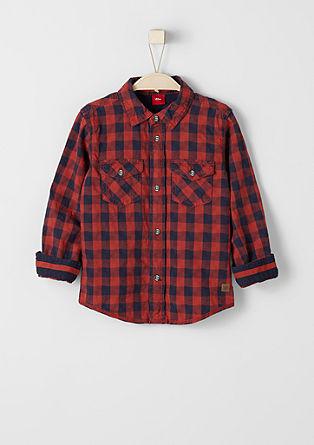 Karirasta srajca s teksturo