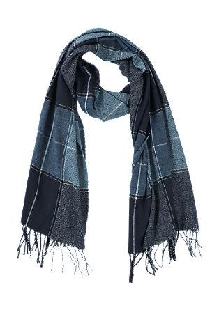 Karo-Schal mit Fransen