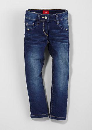 Kathy: raztegljive jeans hlače z vezeninami