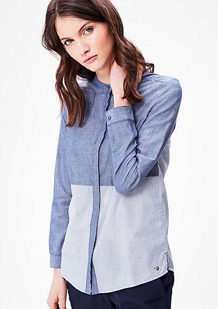 Katoenen blouse met opstaande kraag