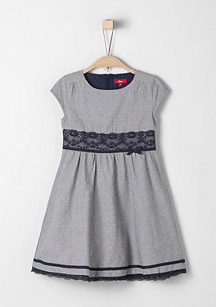 Katoenen jurk met kant