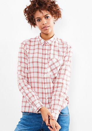 Katoenen overhemdblouse