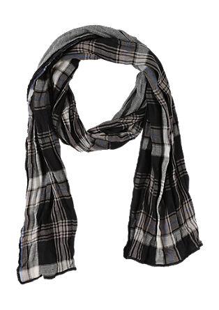 Katoenen sjaal met een motiefmix