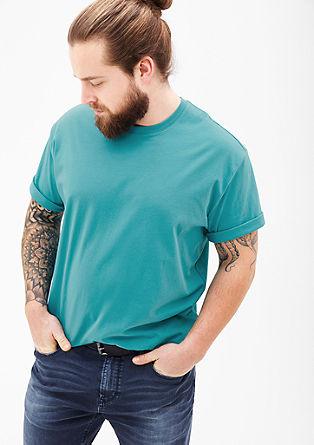 Katoenen T-shirt met ronde hals