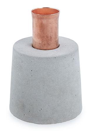 Kerzenhalter im Materialmix, dunkel
