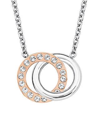 Kette mit Bicolor-Swarovski-Ringen