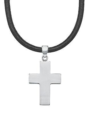 Kette mit Edelstahl-Kreuz