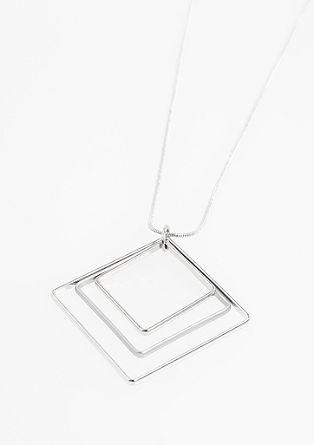 Ketting met hanger die bestaat uit contourlijnen