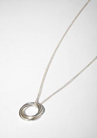 Ketting met hangers in de vorm van een ring