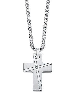 Ketting met kruisje, van edelstaal