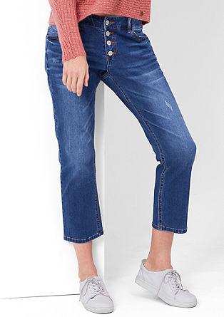 Kick Flare: Verkürzte Stretch-Jeans