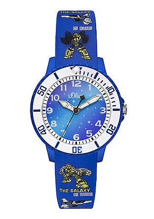 Kids-Uhr mit farbenfrohem Silikonband