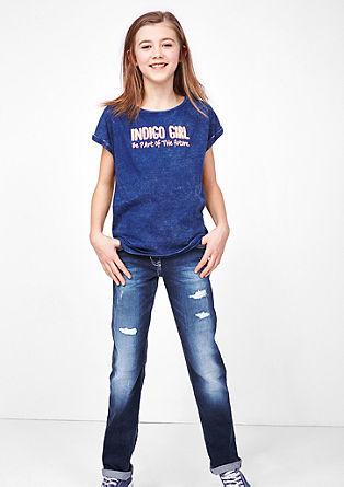 Kimi: Gerade Used-Jeans