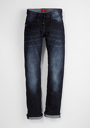 Kimi:jeans with diagonal seams from s.Oliver