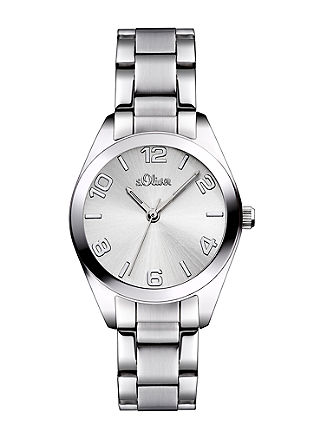 Klassische Edelstahl-Armbanduhr