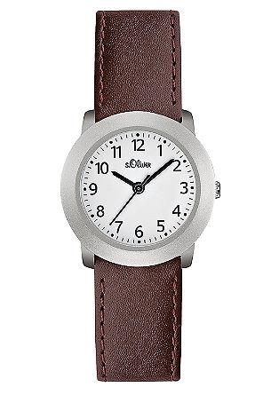 Klassische Uhr mit Lederarmband