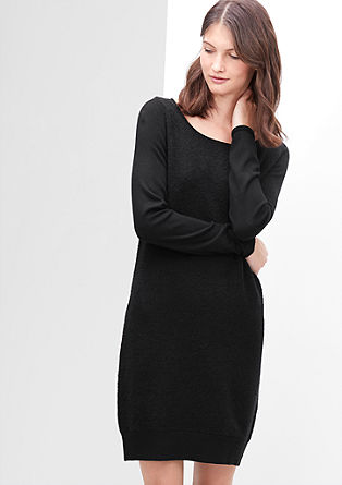 Kleid in Bouclé-Optik