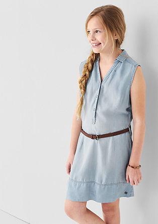 Kleid in Jeans-Optik