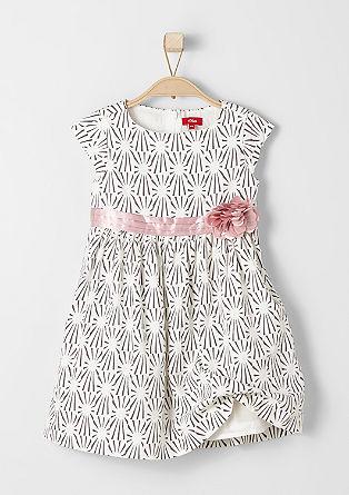 Kleid mit Blüten-Applikation