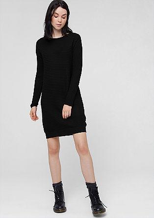 Kleid mit Front aus Rippstrick