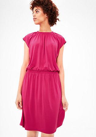 Kleid mit gesmokter Blende
