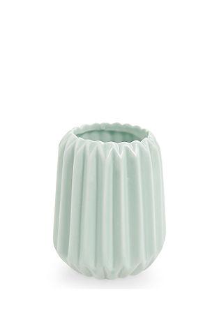 Kleine Plissee-Vase