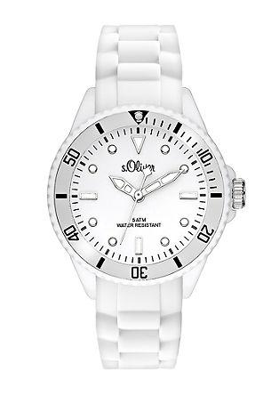 Kleurrijk horloge met siliconeband