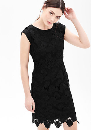 Knee-length dress in floral lace from s.Oliver