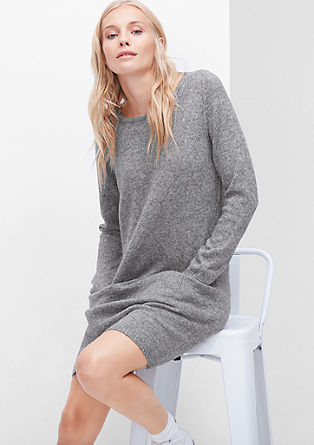 Knit dress in a wool look from s.Oliver