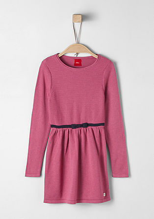 Knit dress with a bow from s.Oliver