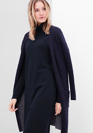 Knit dress with a polo neck from s.Oliver
