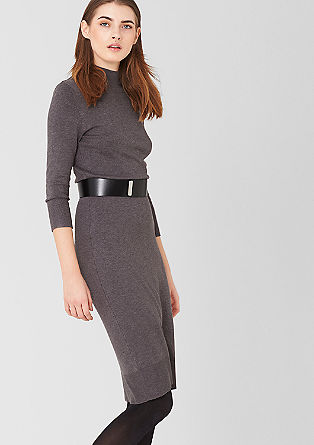 Knit dress with a stand-up collar from s.Oliver